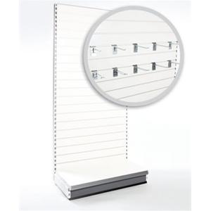 Supermarket Shelving & Shop Shelving - Slatwall Shelving Bay