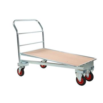 Cash and Carry Trolley - Zinc With Wooden Base
