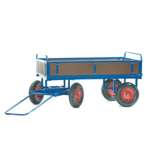 Turntable Truck 1500 x 700 mm, with Wooden Sides