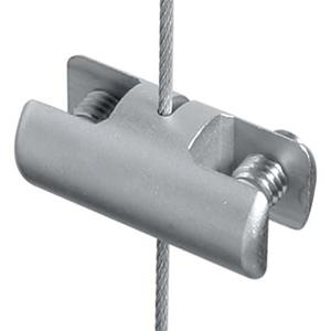 Double-sided vertical clamp for panels up to 7mm thick