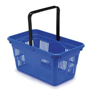 Plastic Shopping Baskets 10-Pack - Blue