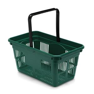 Plastic Shopping Baskets 10-Pack - Green