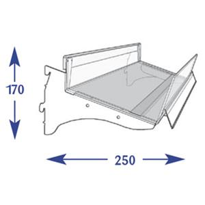 Flange Shelving System - 200mm Flangle (to suit 250mm)