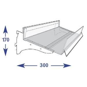 Flange Shelving System - 250mm Flangle (to suit 300mm)