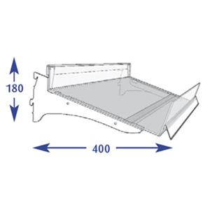 Flange Shelving System - 350mm Flangle (to suit 400mm)