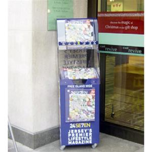 Newspaper Stands - Spring Loaded Single Tower