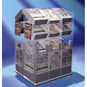 Newspaper Stands - Spring Loaded Volume Cube
