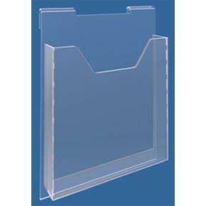 Hook-on Acrylic A4 Leaflet Dispenser