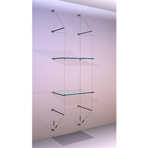 Wall Mounted Shelving Kit A2 Shelves x 2 High