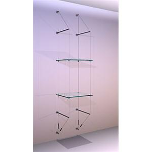Wall Mounted Shelving Kit A3 Shelves x 2 High