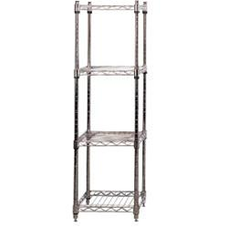 Chrome Wire Shelving - Square Shelf Bay
