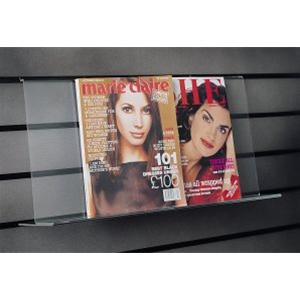 Magazine shelf.