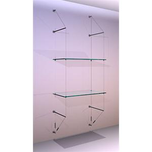 Wall Mounted Shelving Kit A1 Shelves x 2 High
