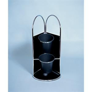 Curve Range Chrome 2 Bucket Flower Stand
