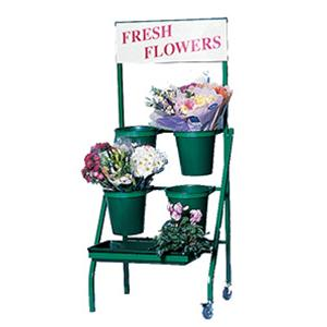 Original Range 4 Bucket & 1 Tray Stand With Header