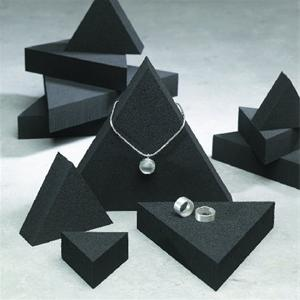 TRIANGLE JEWELLERY DISPLAY - BLACK FOAM