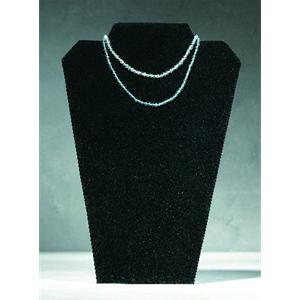 Jewellery Bust Black Velvet Finish