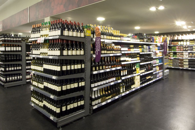 Wine Shelving Section